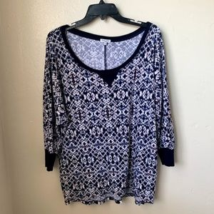 Splendid Blouse Cotton Thermal Pullover Breathable